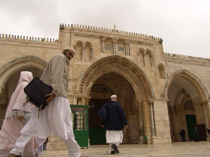 The main entrance to the 'Aqsa Mosque