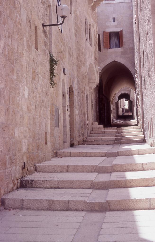 Jerusalem-القدس الشريف: A renovated alleway in the Old City