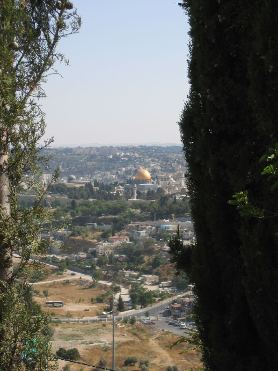Jerusalem - القدس الشريف : Al-Aqsa Mosque and the Dome of the Rock from Wadi El-Joz