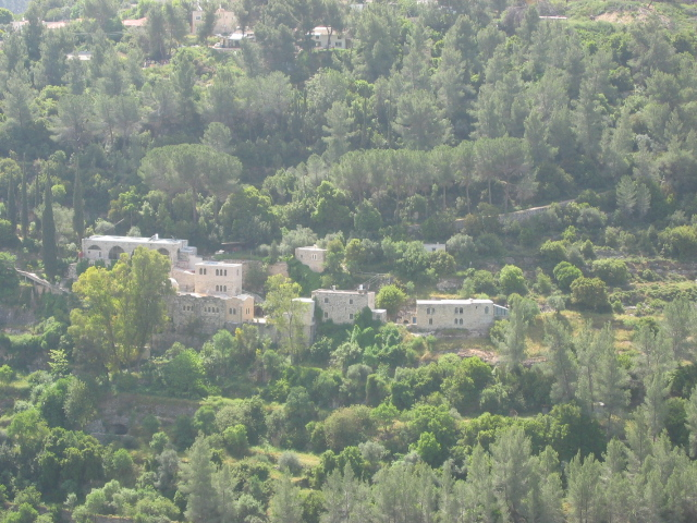 Sataf - صطاف : 'Ayn Karim's Monastery can be seen from Sataf's hills