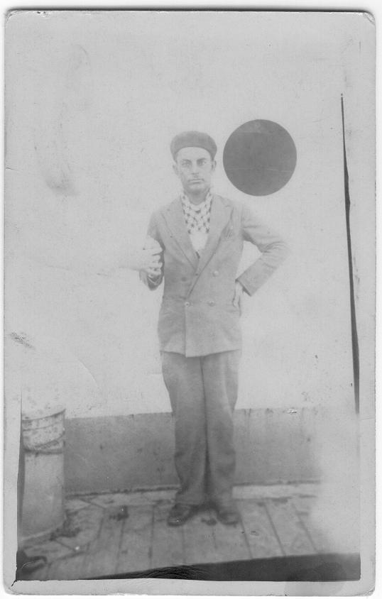 al-Walaja - الولجة : My Father on top of the ship deck traveling abroad in 1933 on business trip.