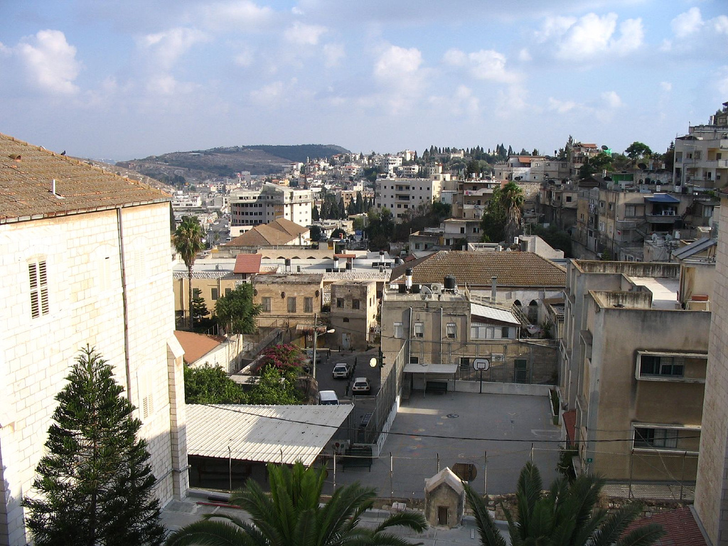 Nazareth - الناصرة : A rooftop of view for Nazareth