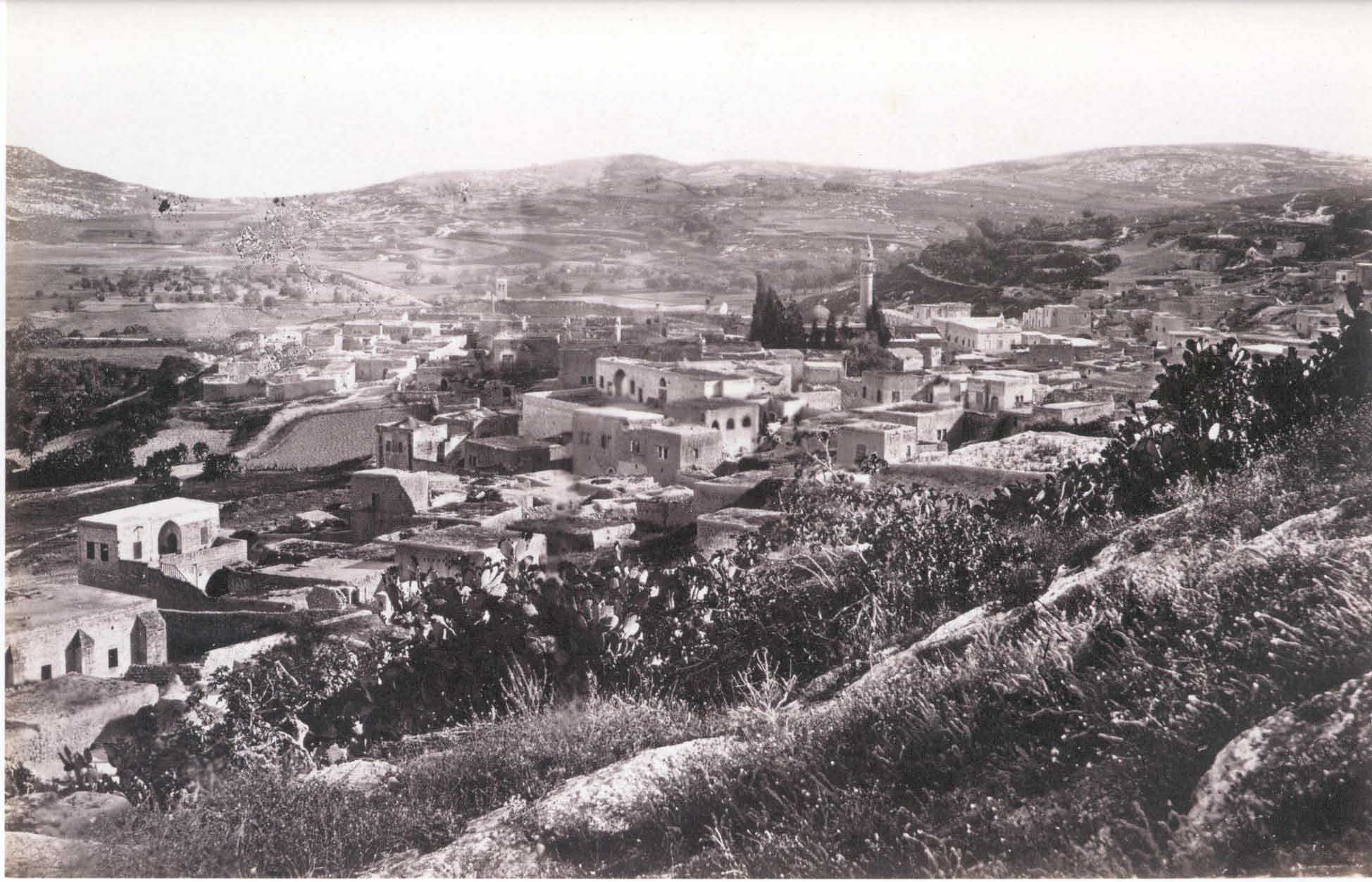 Nazareth - الناصرة : General view for Nazareth looking southeast (1862)