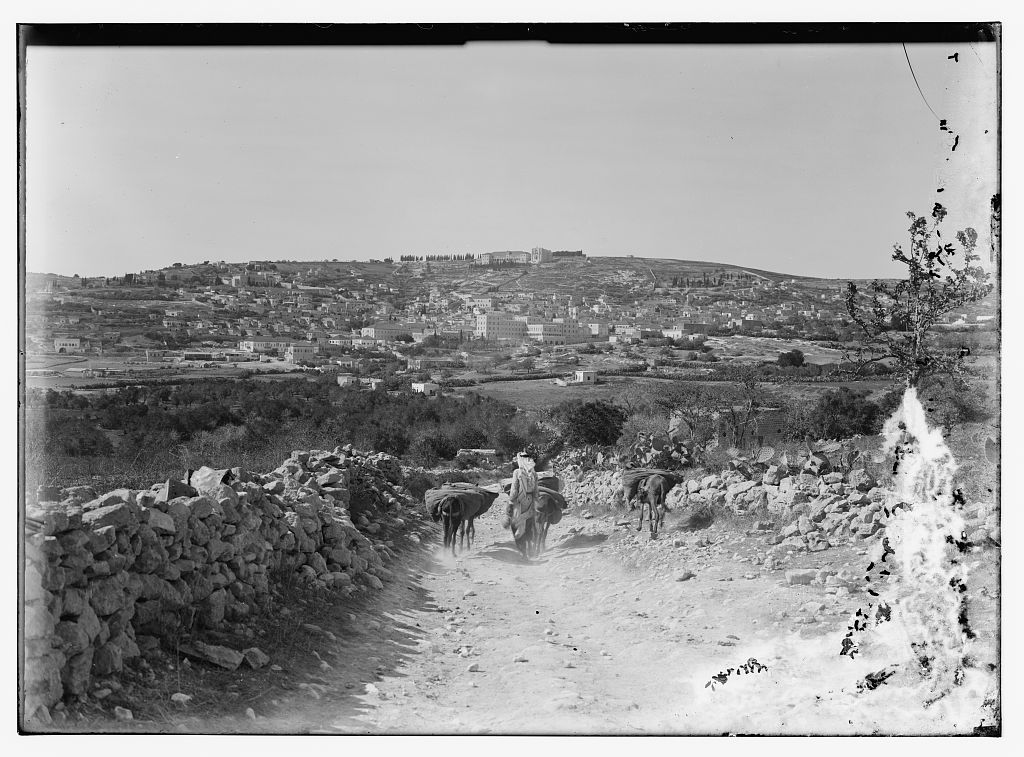 Nazareth - الناصرة : General view, Matson Collection (1925-1946)