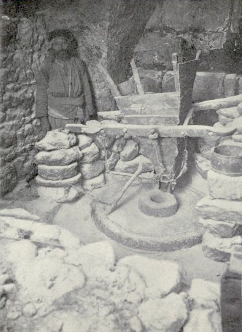 Nazareth - الناصرة : NAZARETH - Late 19th, early 20th c. 35 - Arab water-mill in Nazareth, common in Northern Palestine, 1896