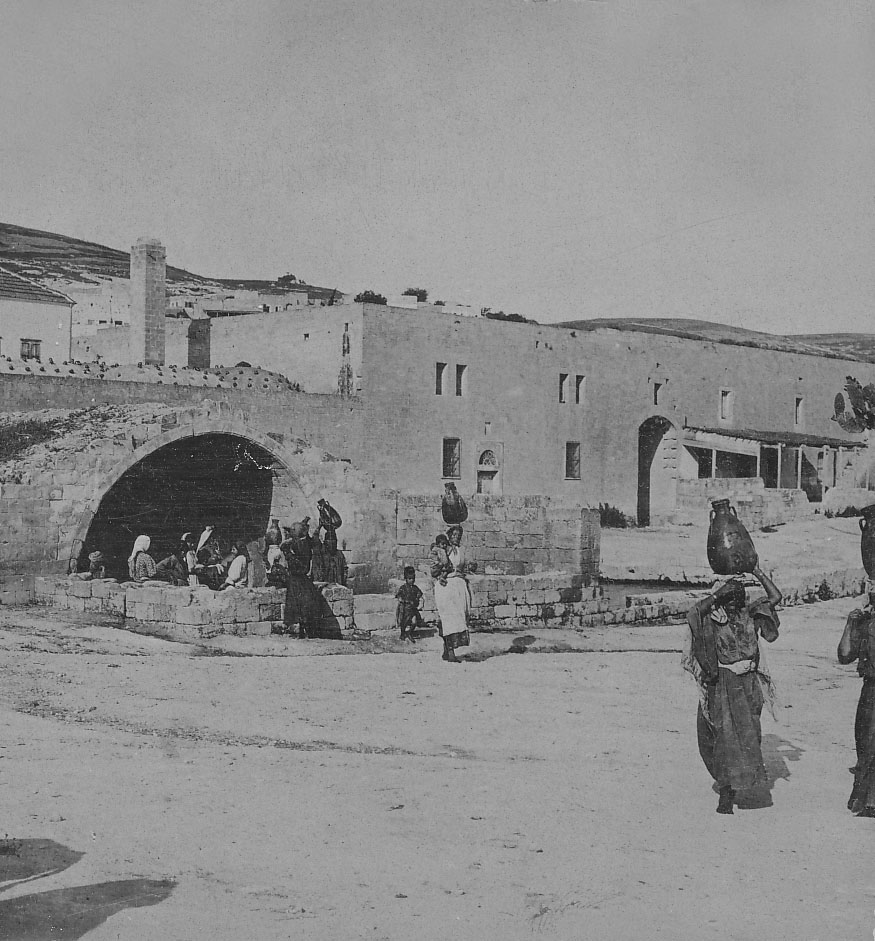 Nazareth - الناصرة : NAZARETH - Women of Nazareth 39 (Late 19th, early 20th c. -  At The Fountain of the Virgin (Per Reem Ackall)