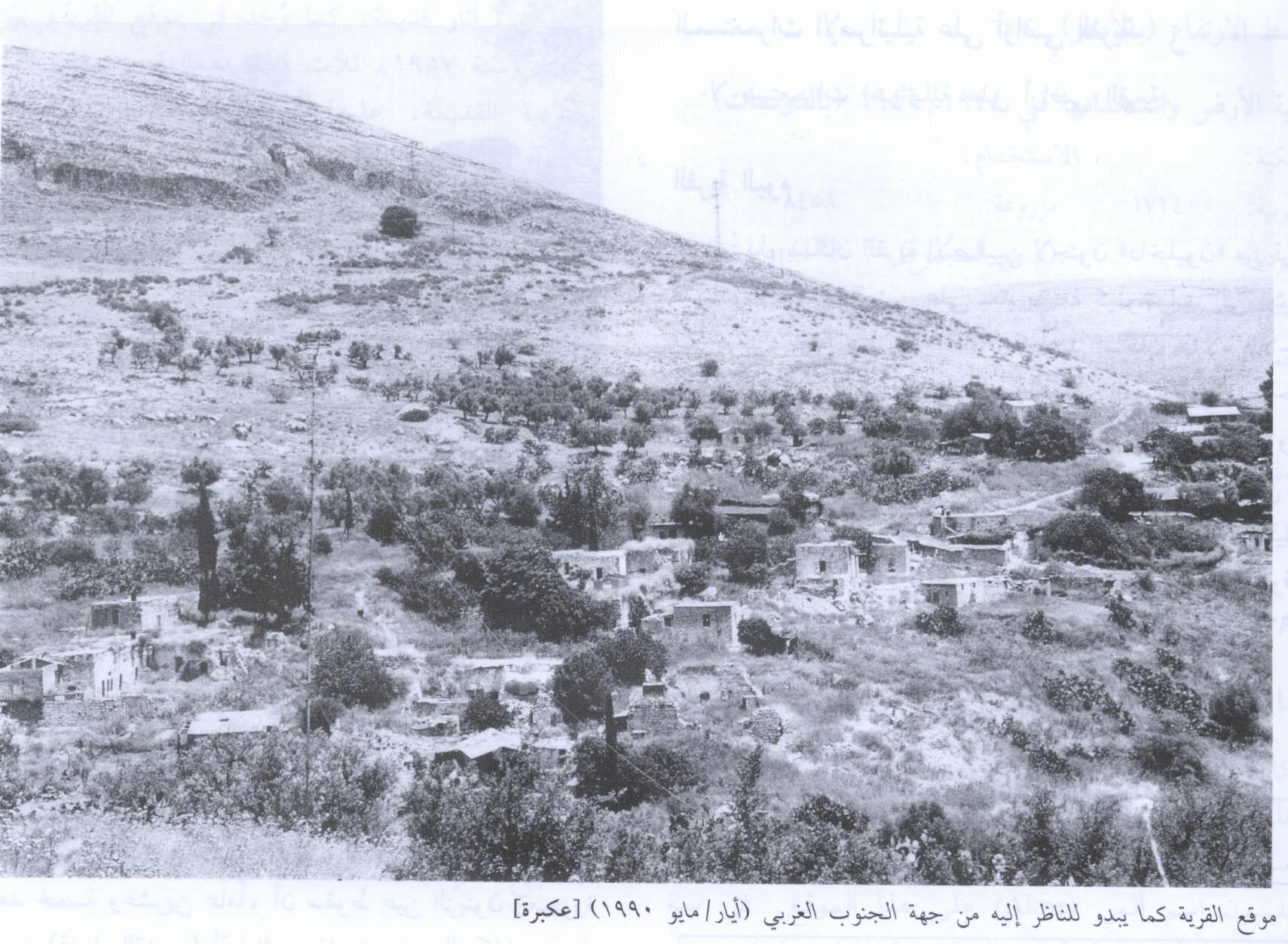 'Akbara - عكبرة : General View Of The Village Site And It's Remains In 1990