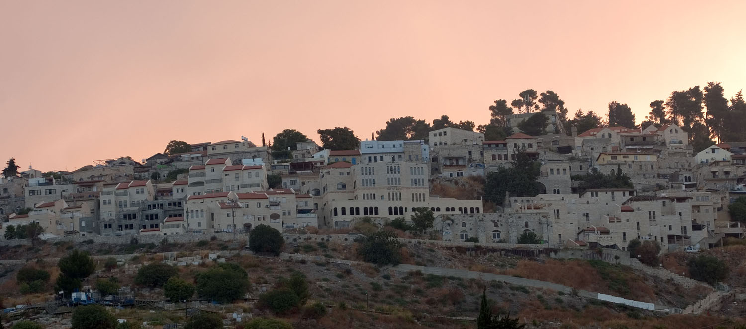 Safad - صفد : General view for Safad's houses, some of the Palestinian houses and architecture is still evident