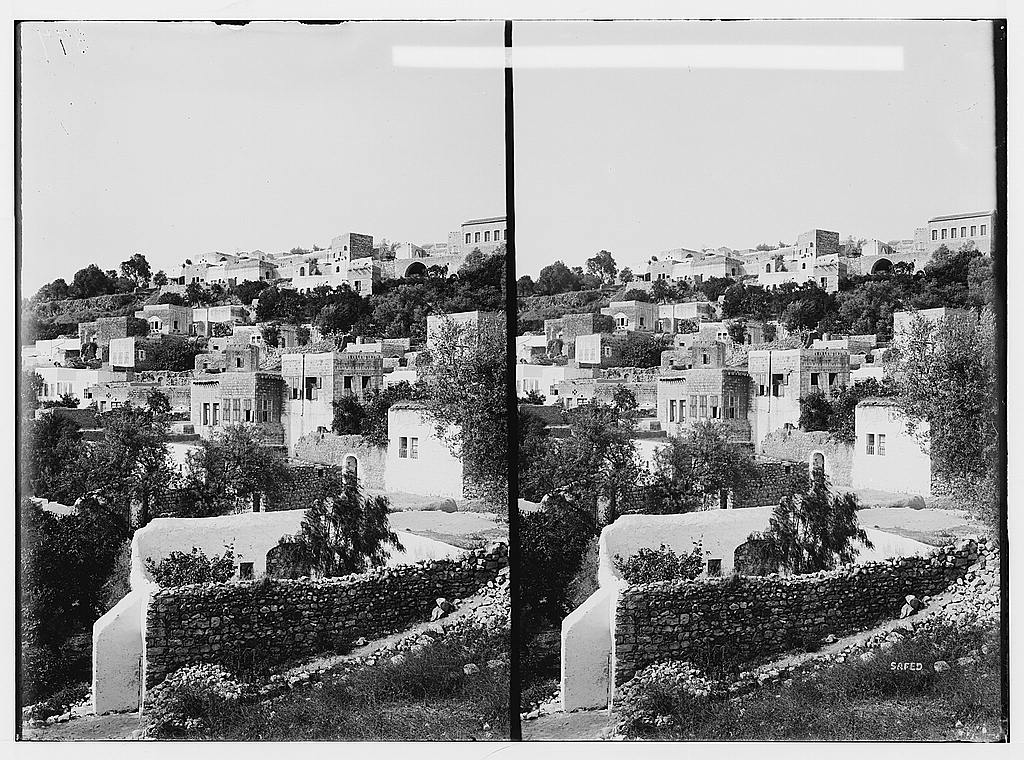 Safad - صفد : General view before Nakba, Matson Collection