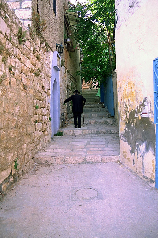 Safad - صفد : An alley in the old city of Safad, 1990s