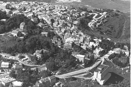 Safad - صفد : An Aerial View Of Safad, 1970