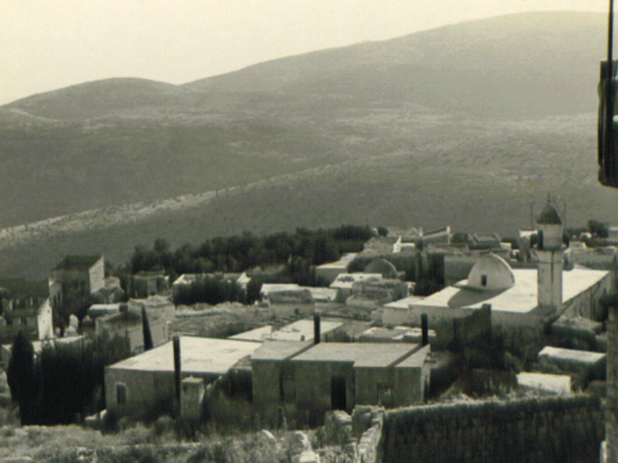 Safad - صفد : Arab neighborhood and the great mosque, Safed
