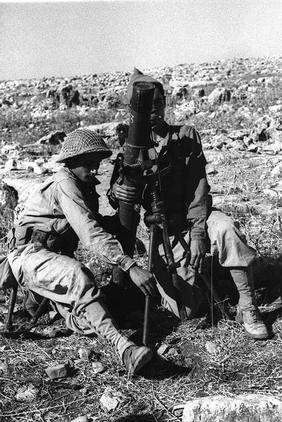 Safsaf - صفصاف : Zionist gangs monitoring\shelling by mortars Safsaf village just before the massacre(Oct 28 1948)