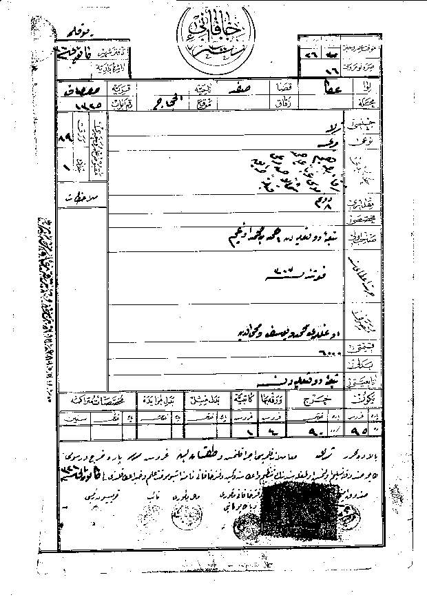 Safsaf - صفصاف : 102 year-old Document of Land Ownership for Edghaim's Family (#3)