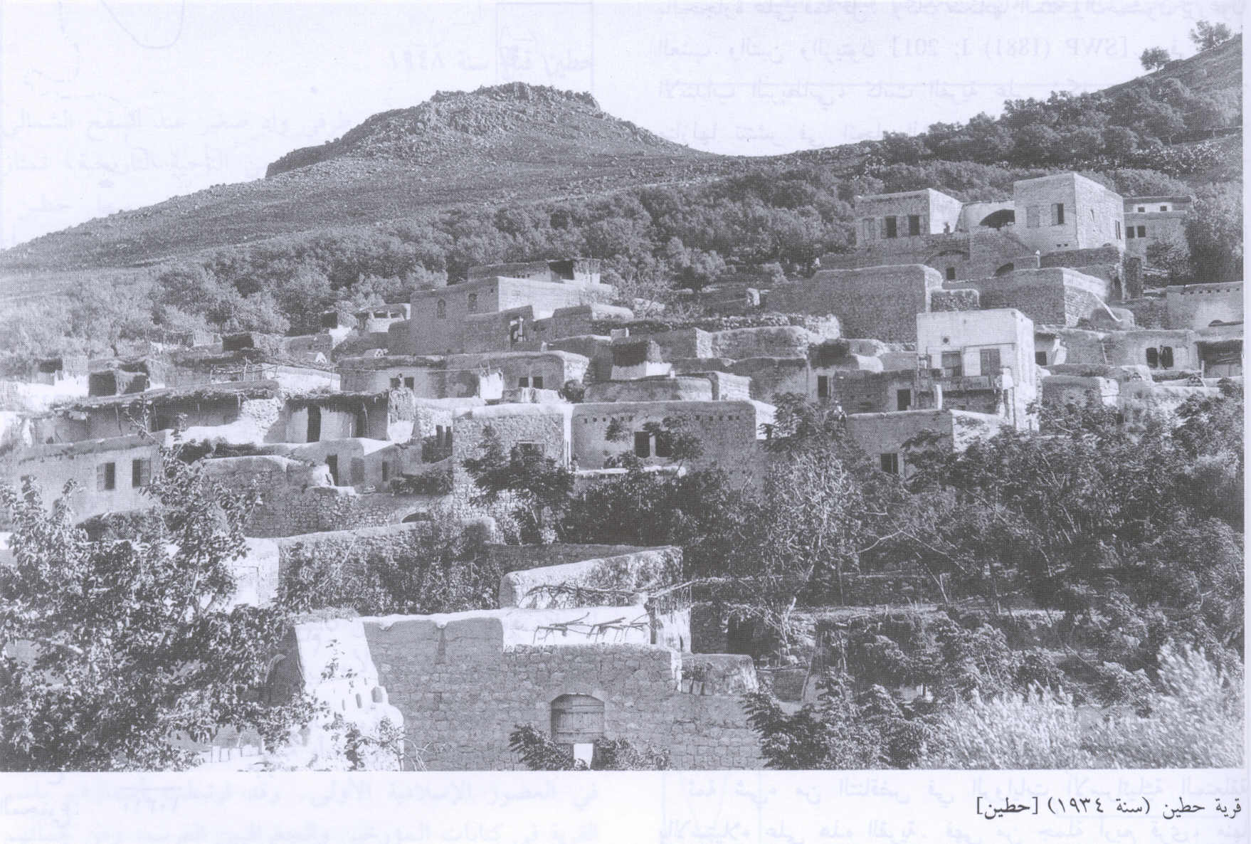Hittin - حطّين : General View Of The Village In 1934