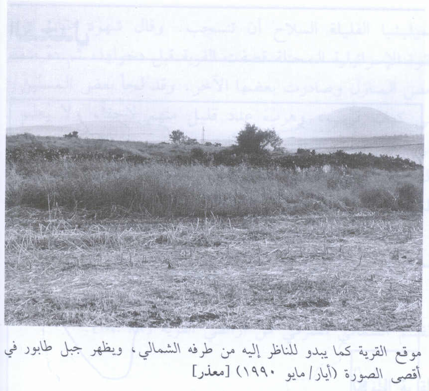Ma'dhar - معذر : The village site from its northern edge. Mount Tabur appears in the background, 1990