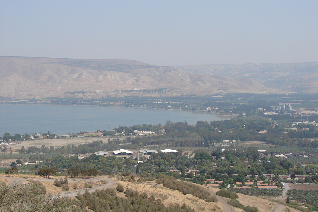 Samakh - سمخ : General View of Tiberias lake from Samakh area