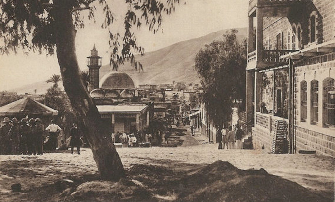 TIBERIAS - The mosque from the hotel, circa 1930s