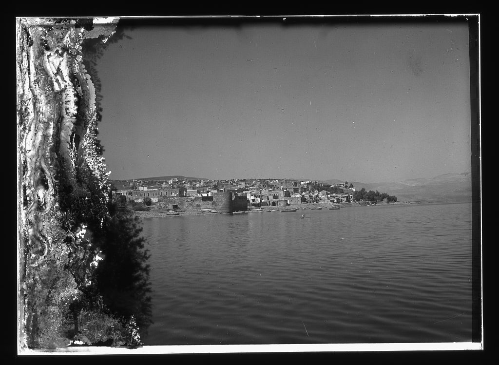 Tiberias - طبريه : Town on Lake Tiberias [between 1898 and 1946]