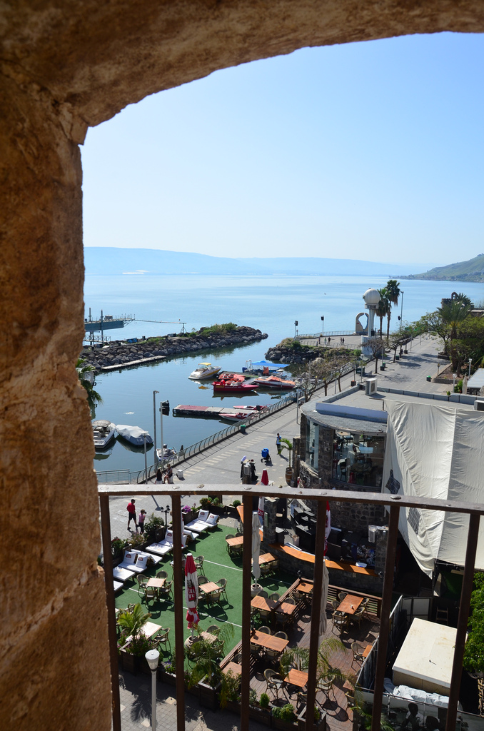 Tiberias - طبريه : Look from the minaret of the sea mosque