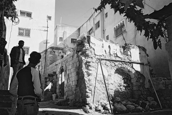 Shahid Wael Karmi's house after destruction