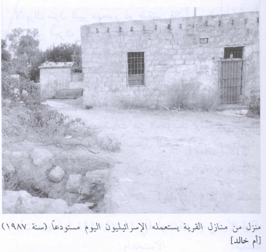 Umm Khalid - اُم خالد : A village house now used by a Jewish settler, 1987