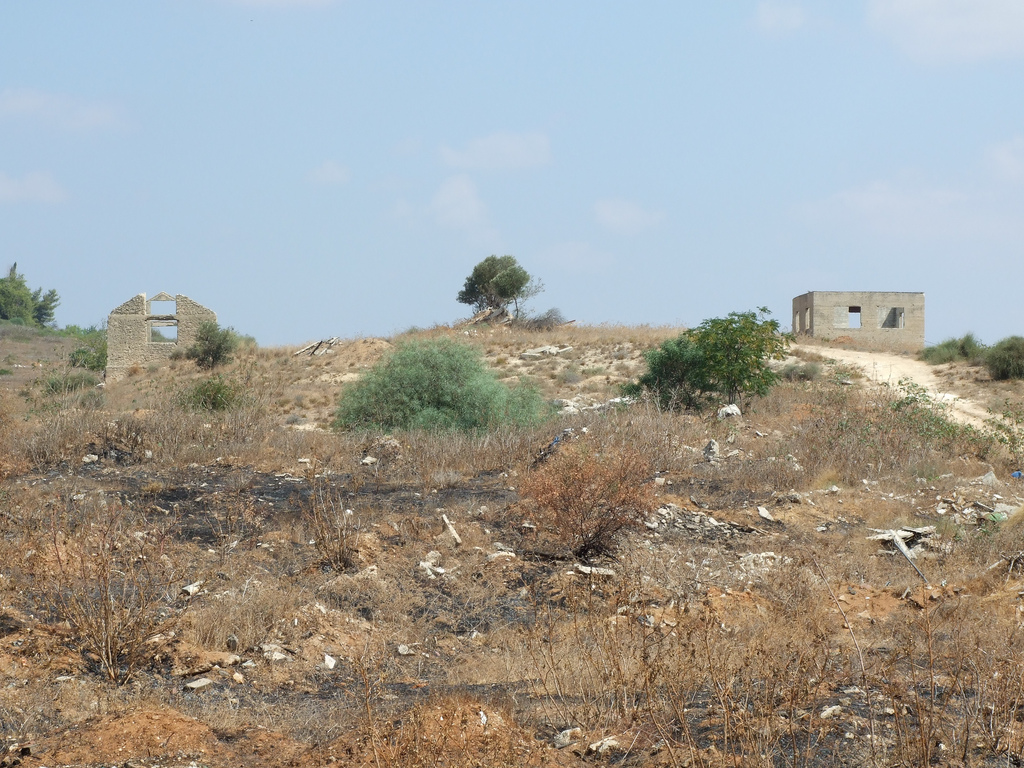Sarafand al-Kharab - صرفند الخراب : Two houses on a hill, west of Be'er Ya'akov