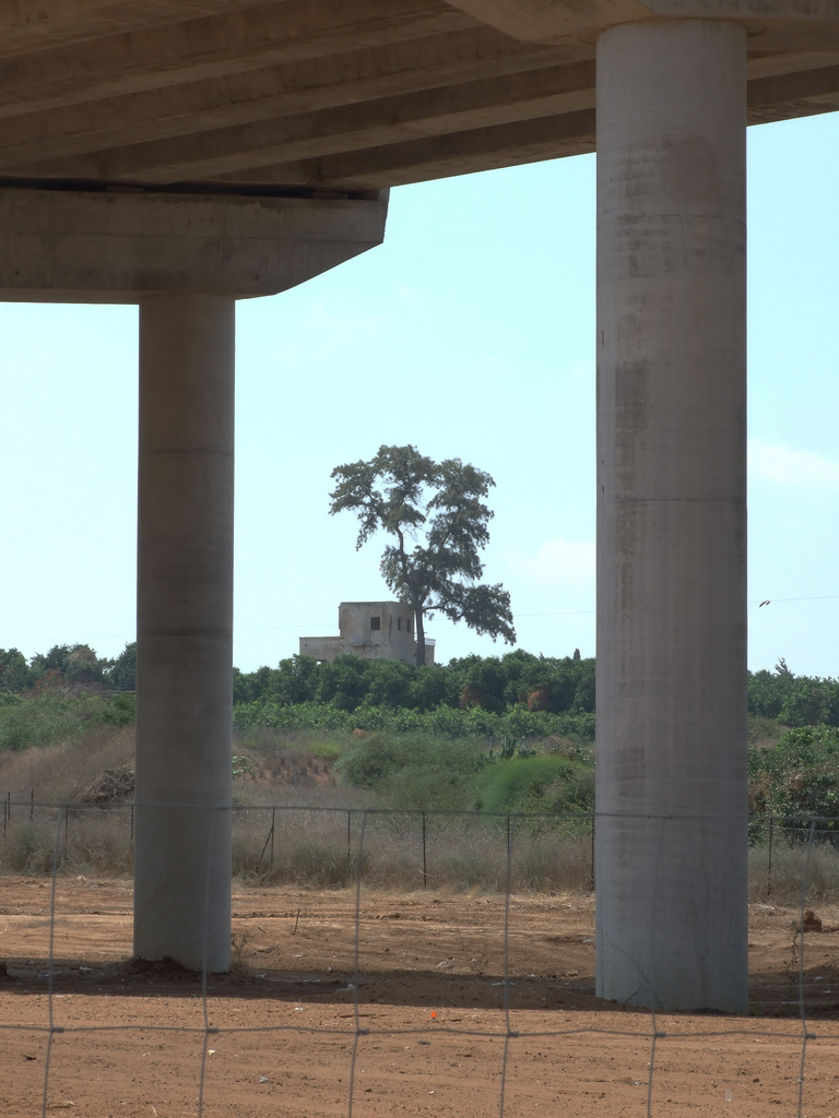 Sarafand al-Kharab - صرفند الخراب : A house in an orchard, a look under highway 431 between Be'er Ya'akov & Nes Tziona.