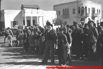 A Palestinian Arab gathering in Ramla, before being ethnically cleansed in 1948