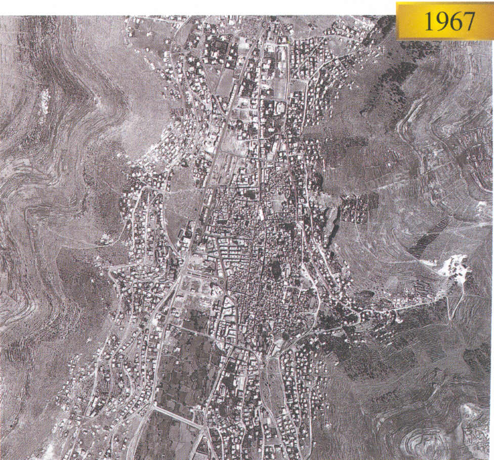 Nablus - نابلس : In 1967, the lower left hand side points north