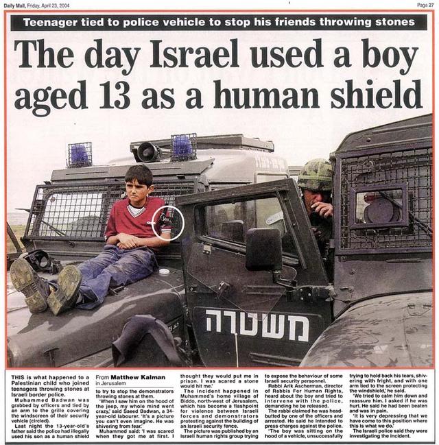 الاحتلال الصهيوني dailymail_humanshiel