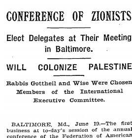 Zionists plan to colonize Palestine in 1899 NY Times